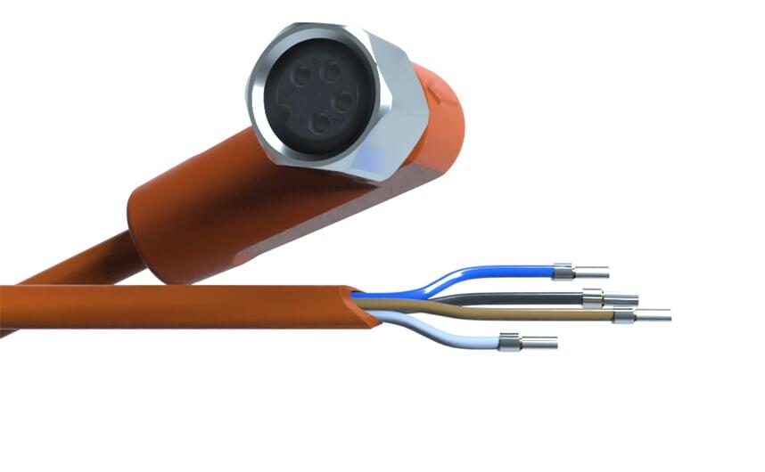 Sensor cable 5 m PVC M8 4-pole IP69k