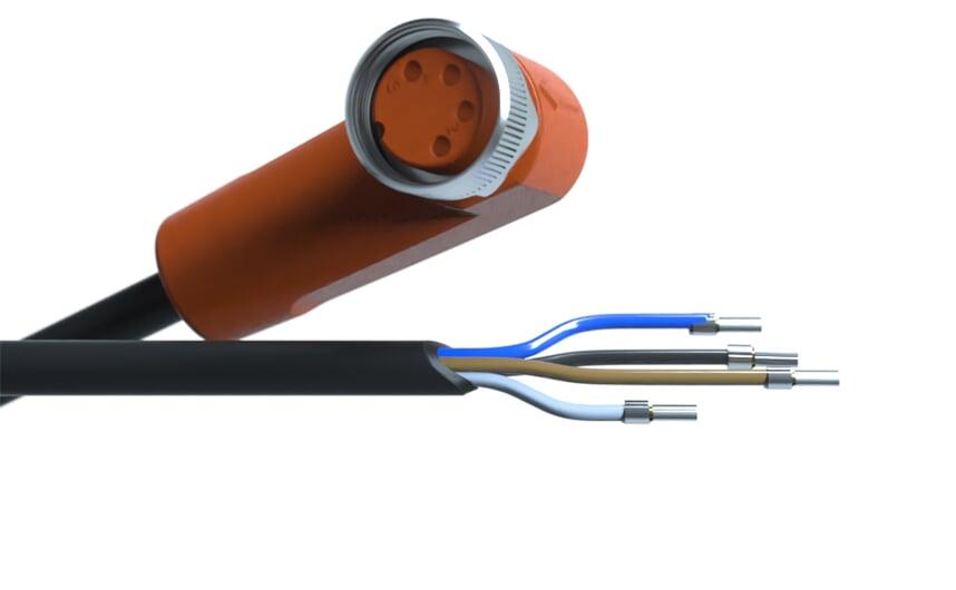 Sensor cable 10 m PUR M8 4-pole IP69k