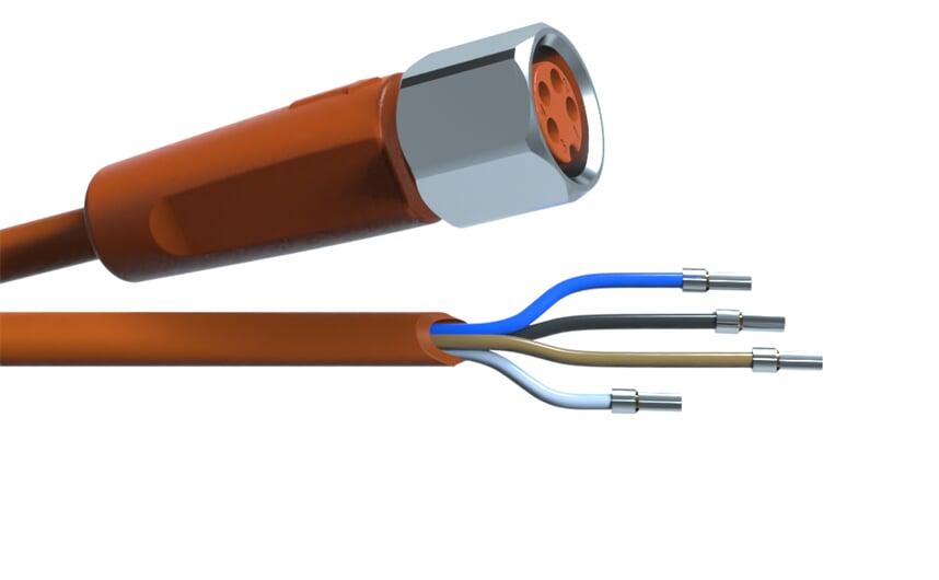 Sensor cable 10 m PVC M8 4-pole IP69k
