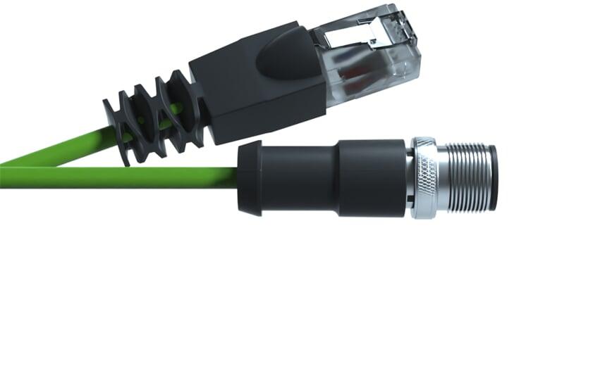 Ethernet cable M12 - RJ45