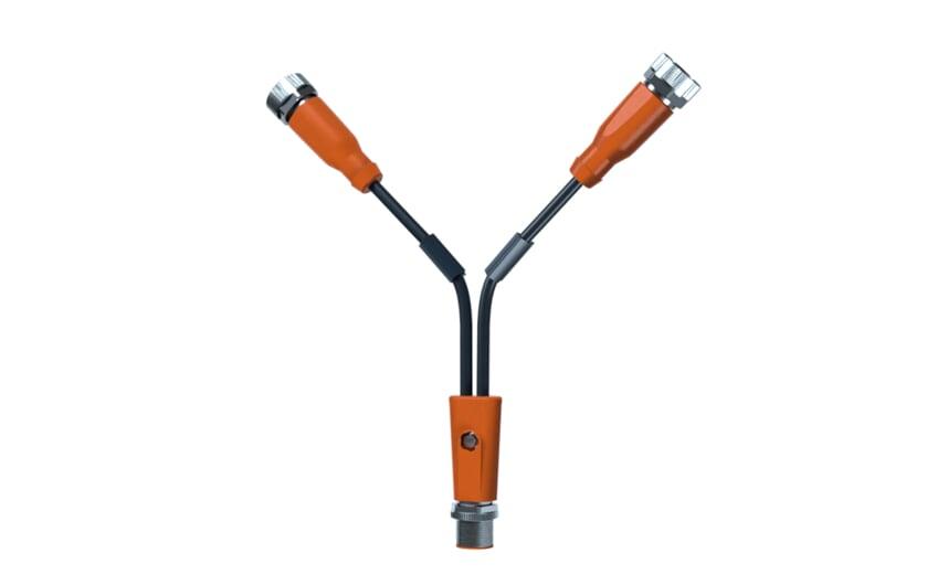 Y-splitter cable M12/2xM12