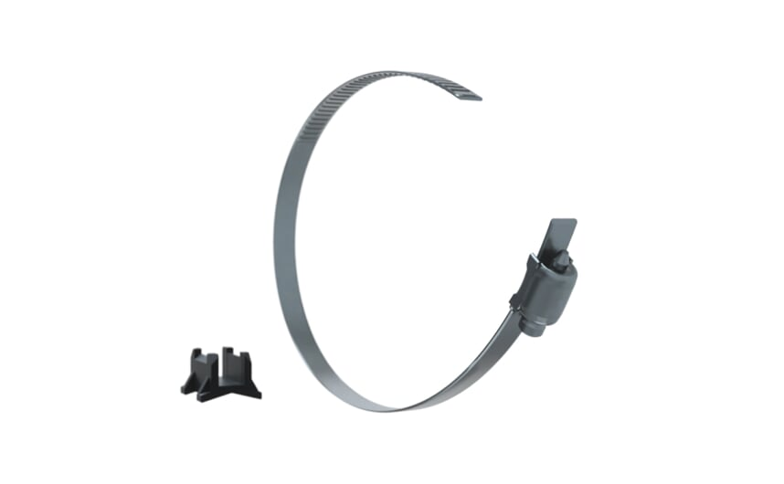 Adapter & fixing strap for clean line cylinders
