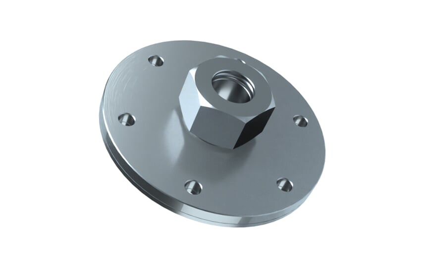 Flange plate according to DIN24557