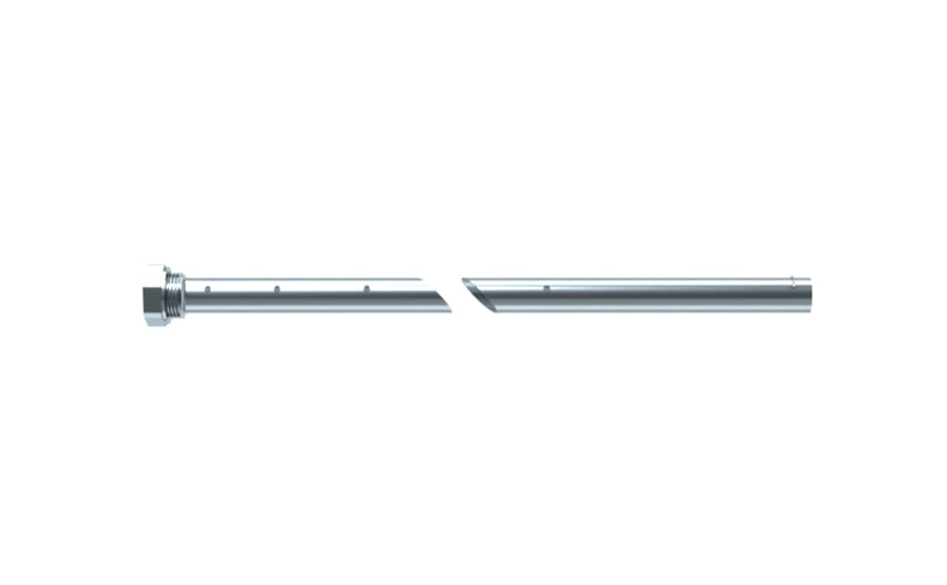 Coaxial pipe G3/4F with probe length 450 mm