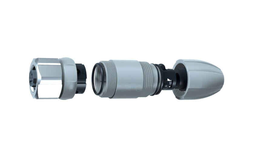 Wirable socket angled M12 IP69k
