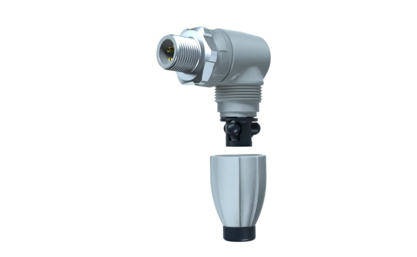 Wirable connector angled M12 IP69k