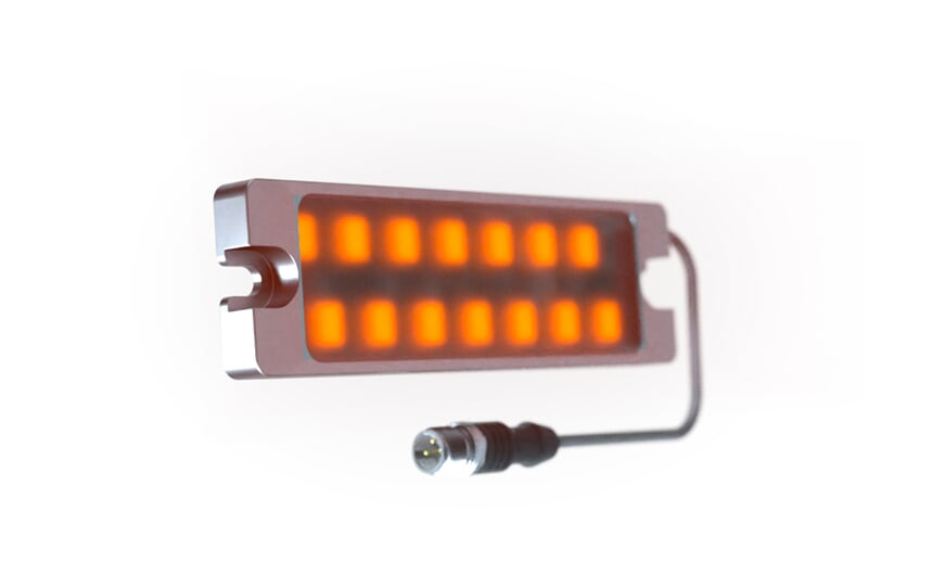 Signal lamp red - yellow - green with continuous/flashing light