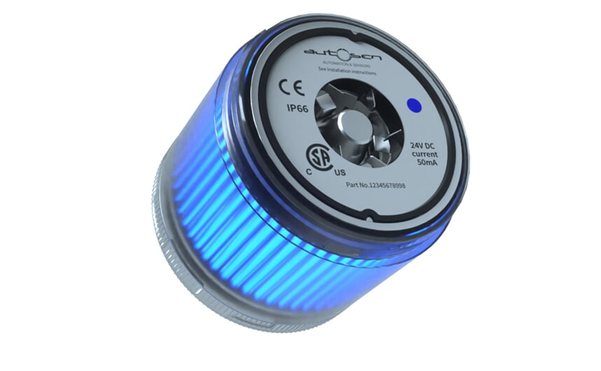 LED stack light 24 VDC blue