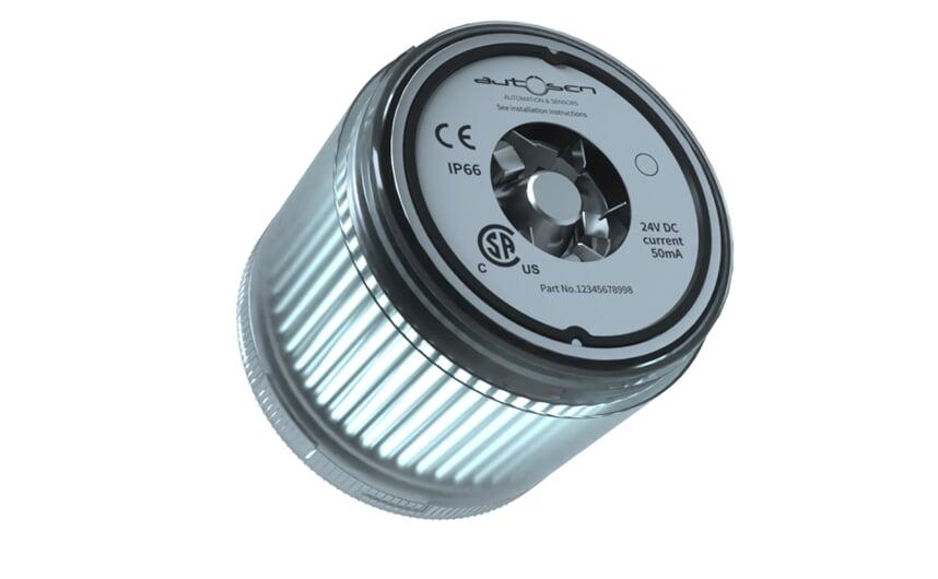LED stack light 24 VDC white