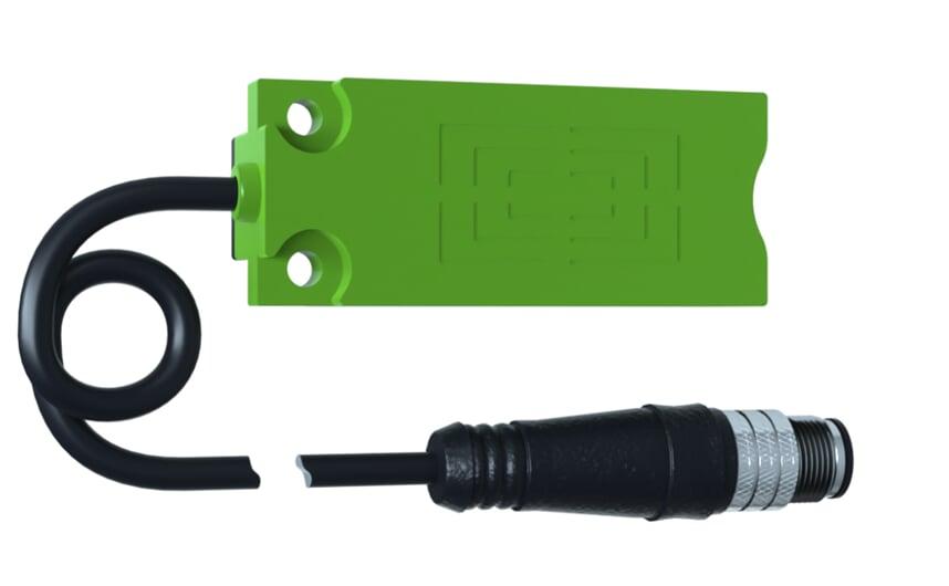 Capacitive sensor, rectangular