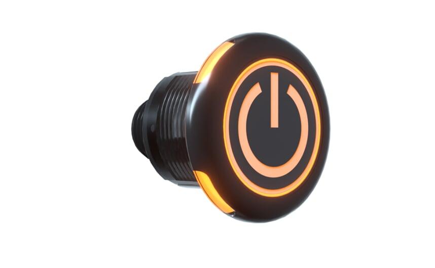 Plastic capacitive touch sensor IP69K