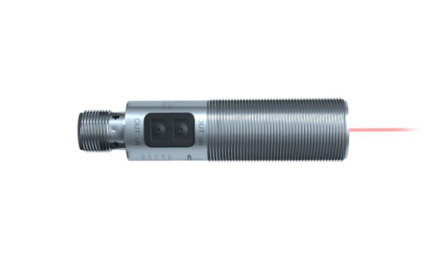 Laser diffuse reflection sensor M18x1 metal thread