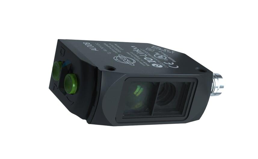 Laser through-beam sensor with PA housing