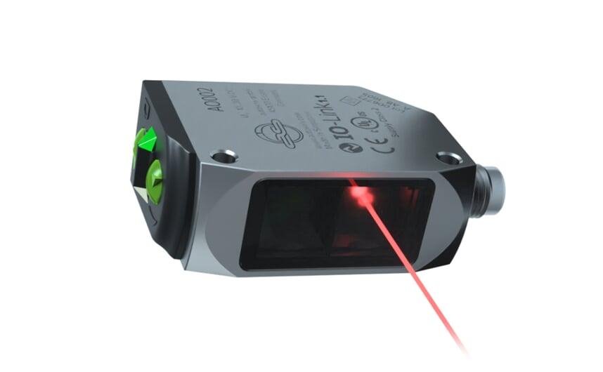 Retro-reflective sensor IP69K stainless steel housing