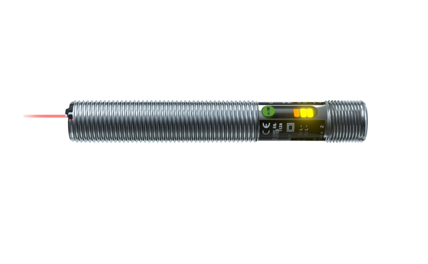 Diffuse reflection sensor M12x1 metal thread