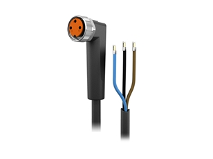 Sensor cable 10 m PUR M8 3-pole IP69k