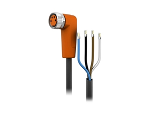 Sensor cable 10 m PUR M8 4-pole IP69k