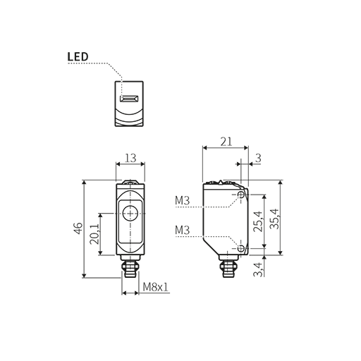 Photoelectric Sensor With Pa Housing Photocell Switch Wiring Diagram Share The Knownledge Dimensional Drawing
